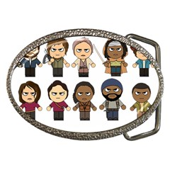 The Walking Dead   Main Characters Chibi   Amc Walking Dead   Manga Dead Belt Buckles by PTsImaginarium