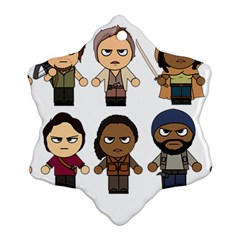 The Walking Dead   Main Characters Chibi   Amc Walking Dead   Manga Dead Snowflake Ornament (2 Side) by PTsImaginarium