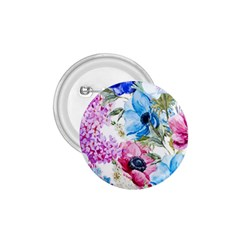 Watercolor Spring Flowers 1 75  Buttons