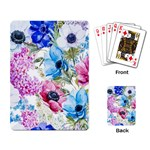 Watercolor spring flowers Playing Card Back