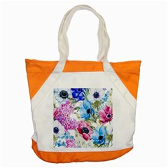 Watercolor Spring Flowers Accent Tote Bag