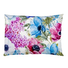 Watercolor Spring Flowers Pillow Case