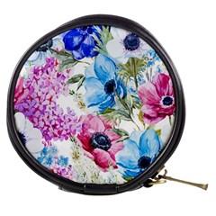 Watercolor Spring Flowers Mini Makeup Bags