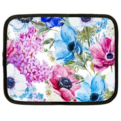 Watercolor Spring Flowers Netbook Case (xxl)