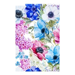 Watercolor Spring Flowers Shower Curtain 48  X 72  (small)  by TastefulDesigns