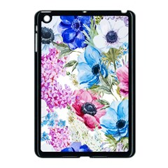 Watercolor Spring Flowers Apple Ipad Mini Case (black) by TastefulDesigns