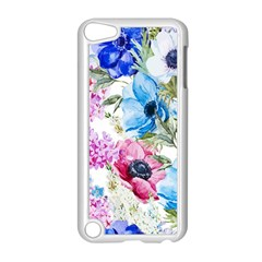 Watercolor Spring Flowers Apple Ipod Touch 5 Case (white) by TastefulDesigns