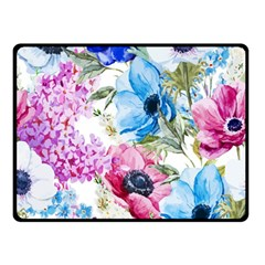 Watercolor spring flowers Double Sided Fleece Blanket (Small)  by TastefulDesigns