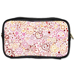 Ornamental Pattern With Hearts And Flowers  Toiletries Bags