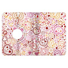 Ornamental Pattern With Hearts And Flowers  Kindle Fire Hdx Flip 360 Case by TastefulDesigns