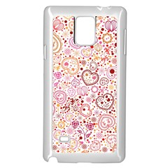 Ornamental Pattern With Hearts And Flowers  Samsung Galaxy Note 4 Case (white)
