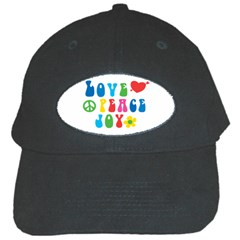 Love Peace Joy Black Cap