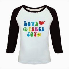 Love Peace Joy Kids Baseball Jerseys