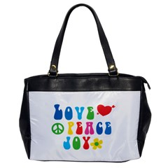 Love Peace Joy Office Handbags
