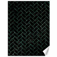 Brick2 Black Marble & Green Marble Canvas 36  X 48  by trendistuff