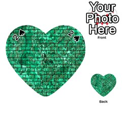 Brick1 Black Marble & Green Marble (r) Playing Cards 54 (heart)