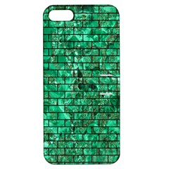 Brick1 Black Marble & Green Marble (r) Apple Iphone 5 Hardshell Case With Stand by trendistuff