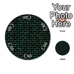 Brick1 Black Marble & Green Marble Playing Cards 54 (round) by trendistuff