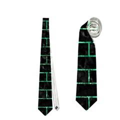 Brick1 Black Marble & Green Marble Necktie (two Side)