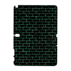 Brick1 Black Marble & Green Marble Samsung Galaxy Note 10 1 (p600) Hardshell Case
