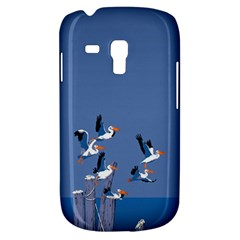 Abstract Pelicans Seascape Tropical Pop Art  Samsung Galaxy S3 Mini I8190 Hardshell Case by WaltCurleeArt
