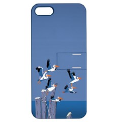 Abstract Pelicans Seascape Tropical Pop Art  Apple Iphone 5 Hardshell Case With Stand by WaltCurleeArt
