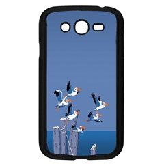 Abstract Pelicans Seascape Tropical Pop Art  Samsung Galaxy Grand Duos I9082 Case (black) by WaltCurleeArt