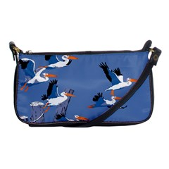 Abstract Pelicans Seascape Tropical Pop Art Shoulder Clutch Bags by WaltCurleeArt