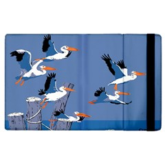 Abstract Pelicans Seascape Tropical Pop Art Apple Ipad 3/4 Flip Case by WaltCurleeArt