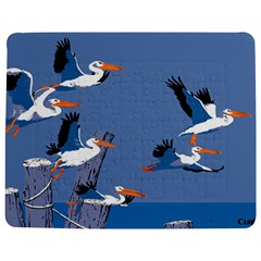 Abstract Pelicans Seascape Tropical Pop Art Jigsaw Puzzle Photo Stand (rectangular) by WaltCurleeArt