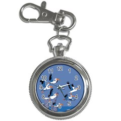 Abstract Pelicans Seascape Tropical Pop Art Key Chain Watches by WaltCurleeArt