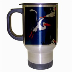 Abstract Pelicans Seascape Tropical Pop Art Travel Mug (silver Gray) by WaltCurleeArt
