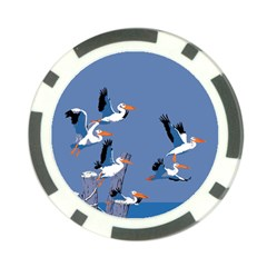 Abstract Pelicans Seascape Tropical Pop Art Poker Chip Card Guards by WaltCurleeArt