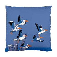 Abstract Pelicans Seascape Tropical Pop Art Standard Cushion Case (two Sides) by WaltCurleeArt