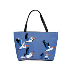 Abstract Pelicans Seascape Tropical Pop Art Shoulder Handbags by WaltCurleeArt