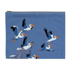 Abstract Pelicans Seascape Tropical Pop Art Cosmetic Bag (xl)