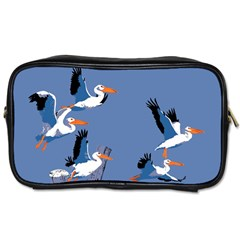 Abstract Pelicans Seascape Tropical Pop Art Toiletries Bags 2 Side by WaltCurleeArt