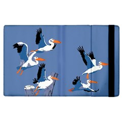 Abstract Pelicans Seascape Tropical Pop Art Apple Ipad 2 Flip Case by WaltCurleeArt