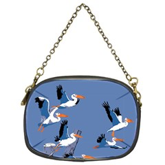 Abstract Pelicans Seascape Tropical Pop Art Chain Purses (one Side)  by WaltCurleeArt