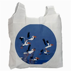 Abstract Pelicans Seascape Tropical Pop Art Recycle Bag (one Side) by WaltCurleeArt