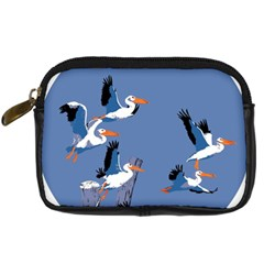 Abstract Pelicans Seascape Tropical Pop Art Digital Camera Cases by WaltCurleeArt
