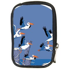 Abstract Pelicans Seascape Tropical Pop Art Compact Camera Cases by WaltCurleeArt