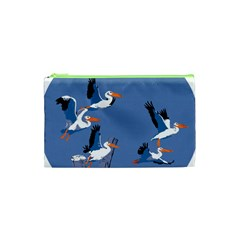Abstract Pelicans Seascape Tropical Pop Art Cosmetic Bag (xs) by WaltCurleeArt