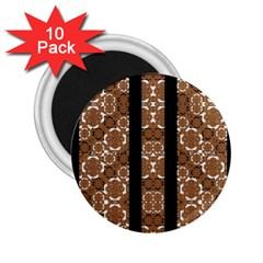 Orange And Black Boho Stripes 2 25  Magnets (10 Pack)  by dflcprints