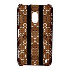 Orange And Black Boho Stripes Nokia Lumia 620 by dflcprints