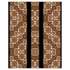 Orange And Black Boho Stripes Drawstring Bag (small) by dflcprints