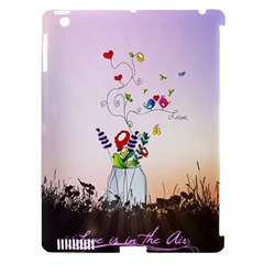 Love Is In The Air illustration Apple iPad 3/4 Hardshell Case (Compatible with Smart Cover) by TastefulDesigns