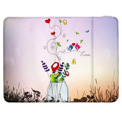 Love Is In The Air Illustration Samsung Galaxy Tab 7  P1000 Flip Case by TastefulDesigns