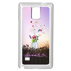 Love Is In The Air Illustration Samsung Galaxy Note 4 Case (white) by TastefulDesigns