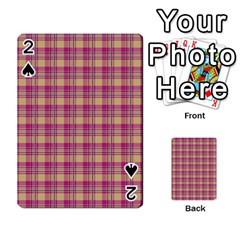 Pink Plaid Pattern Playing Cards 54 Designs